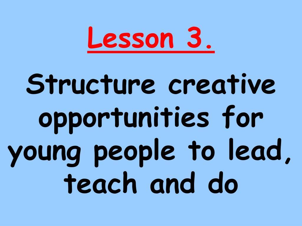 Lesson 3.