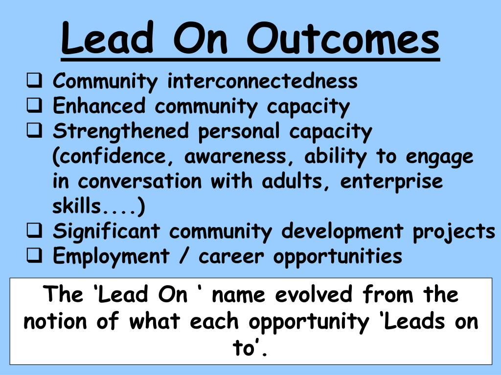 Lead On Outcomes