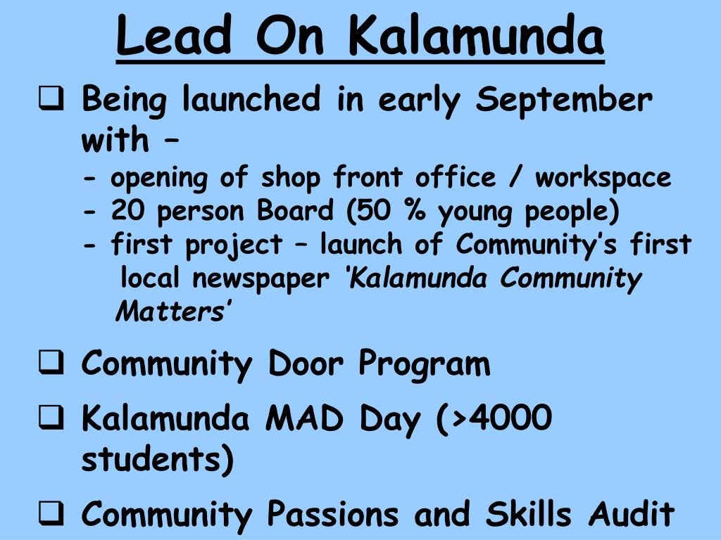Lead On Kalamunda