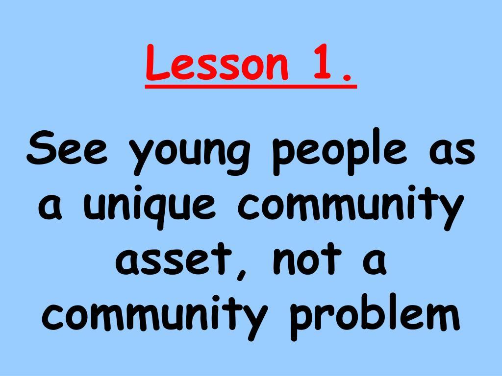 Lesson 1.