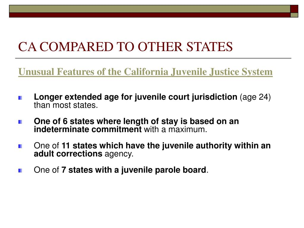 CA COMPARED TO OTHER STATES