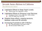 juvenile justice reform in california the historical context