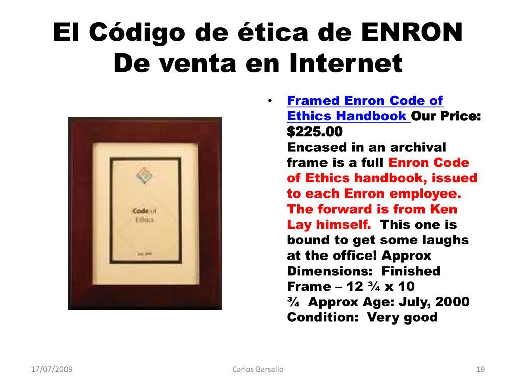 El Código de ética de ENRON