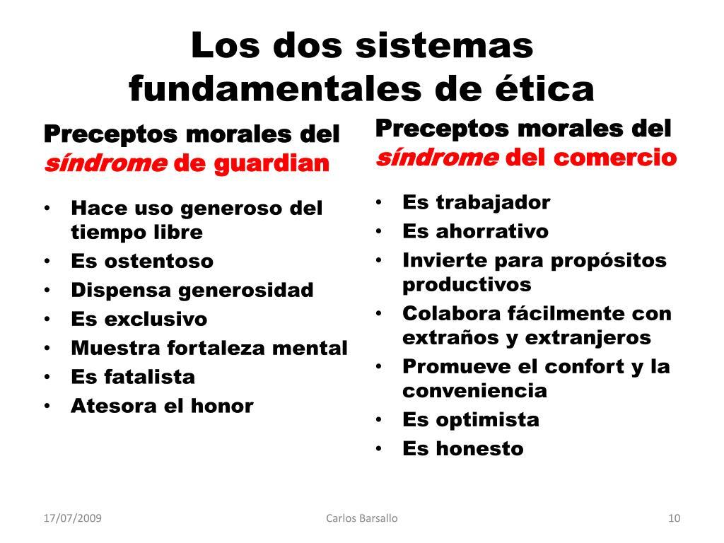 Los dos sistemas fundamentales de ética