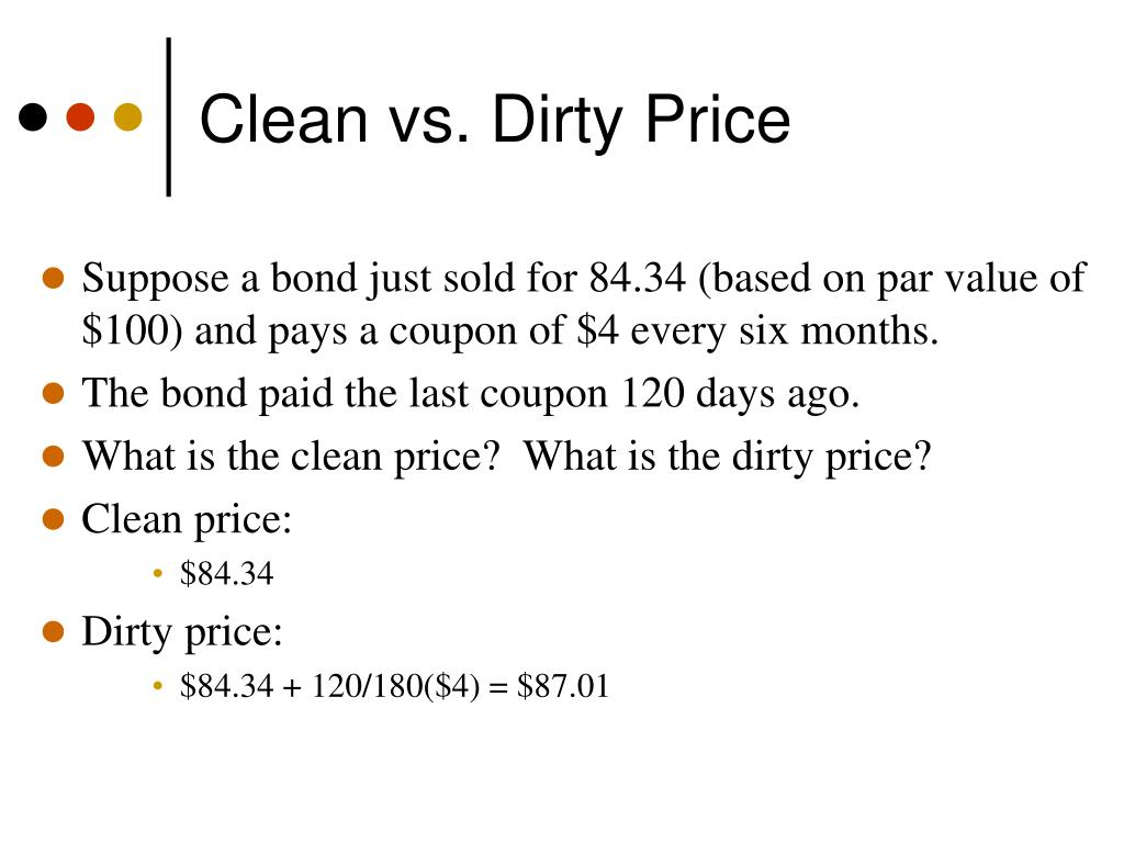 Clean vs. Dirty Price