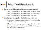 price yield relationship14
