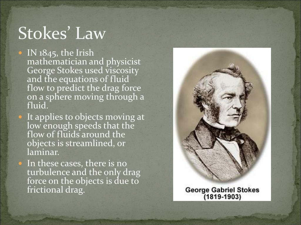 Stokes' Law