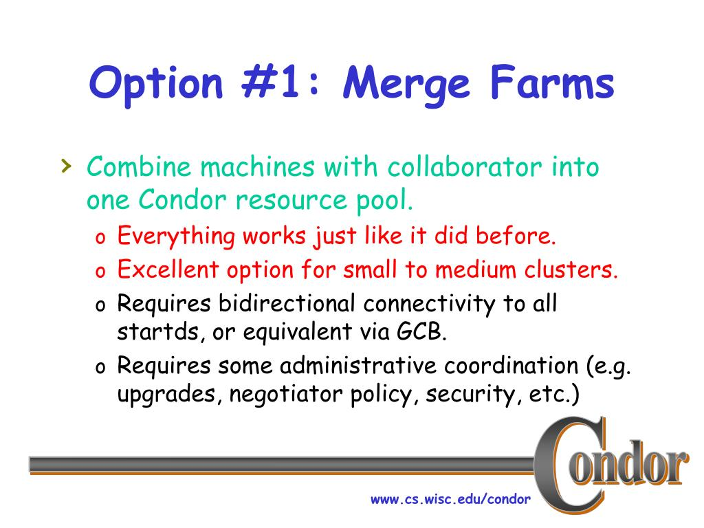 Option #1: Merge Farms