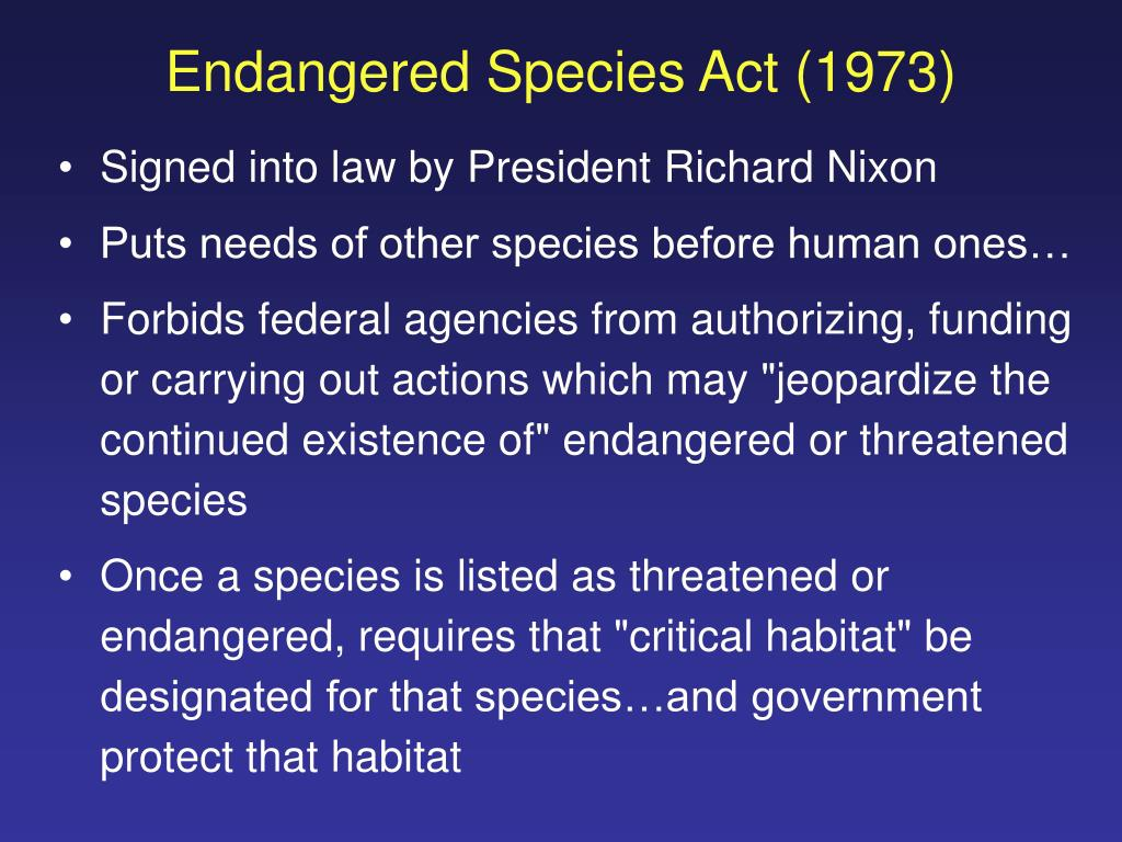 Endangered Species Act (1973)