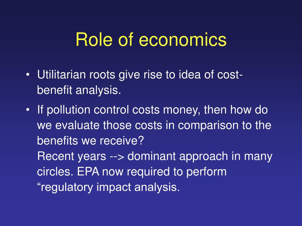 Role of economics