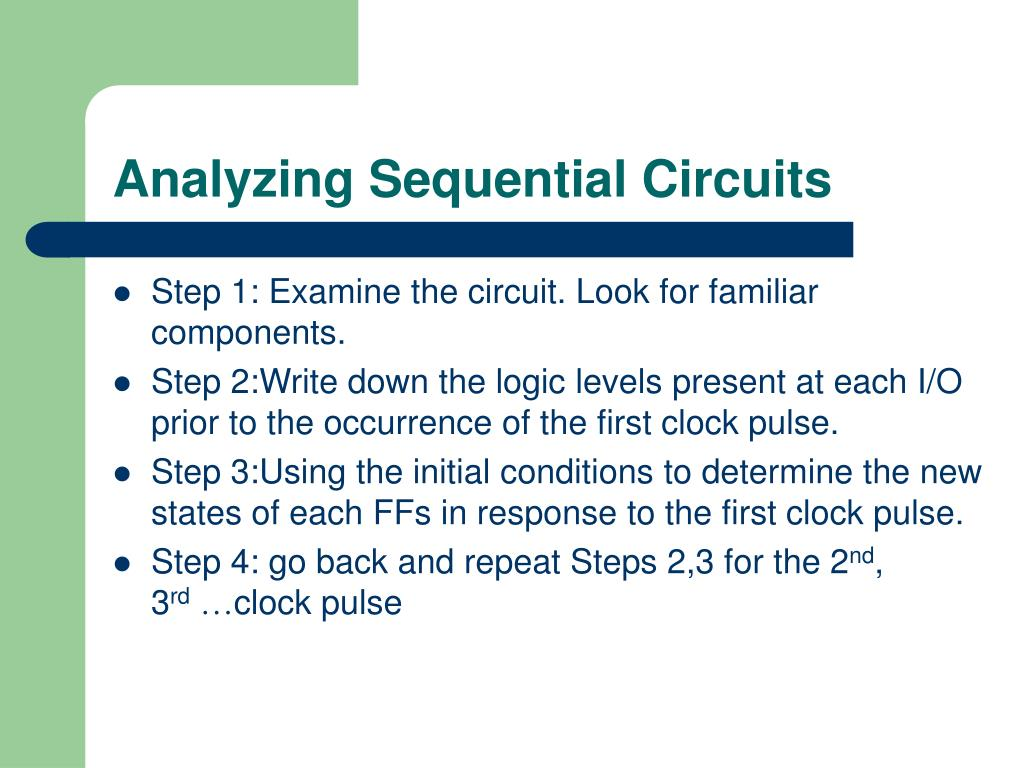 Analyzing Sequential Circuits