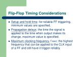 flip flop timing considerations