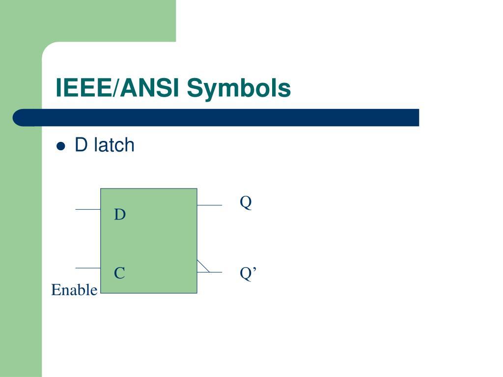 IEEE/ANSI Symbols