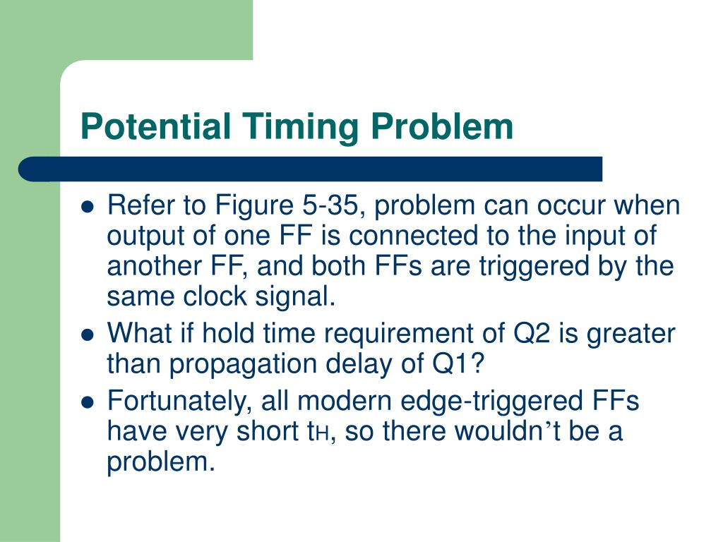 Potential Timing Problem