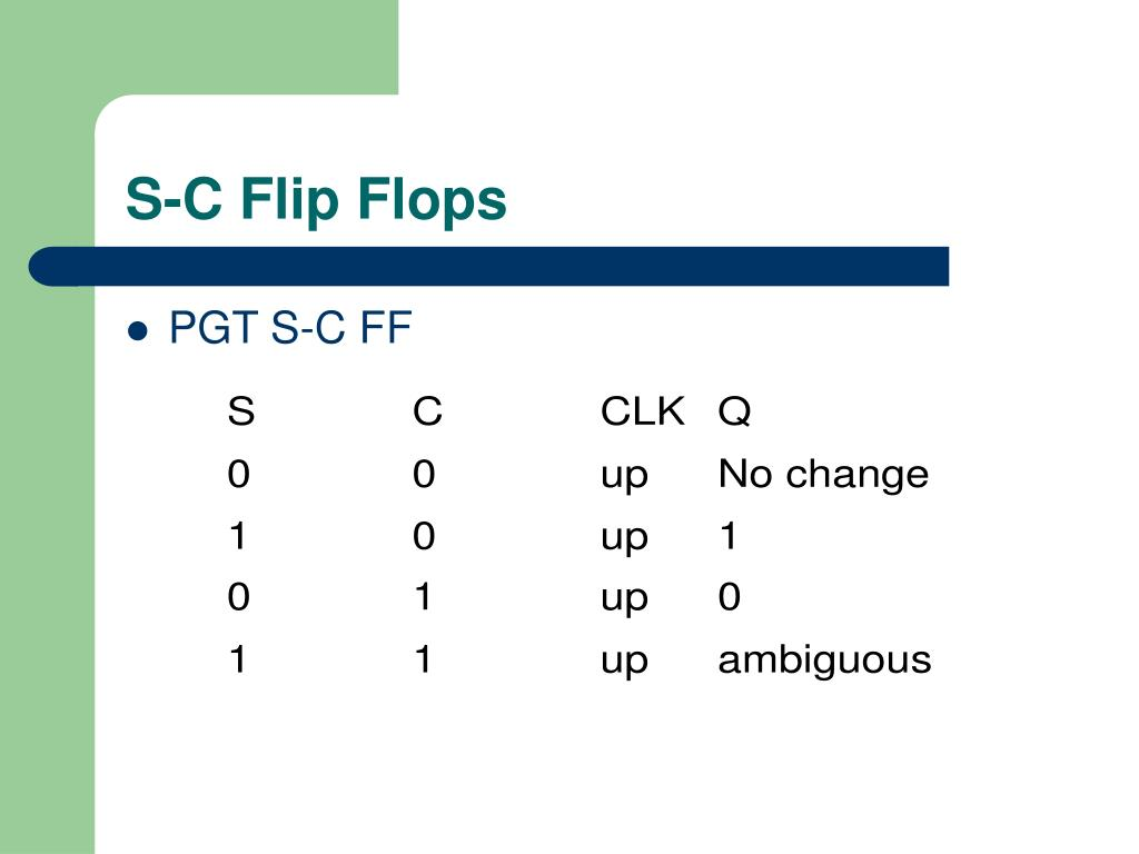 S-C Flip Flops
