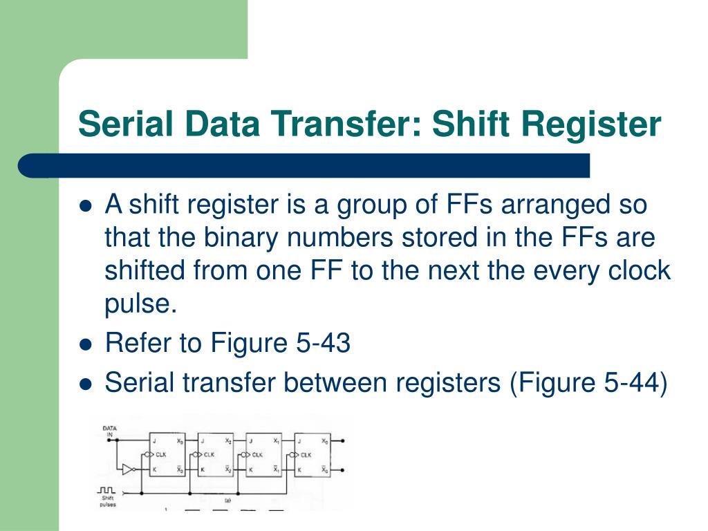 Serial Data Transfer: Shift Register