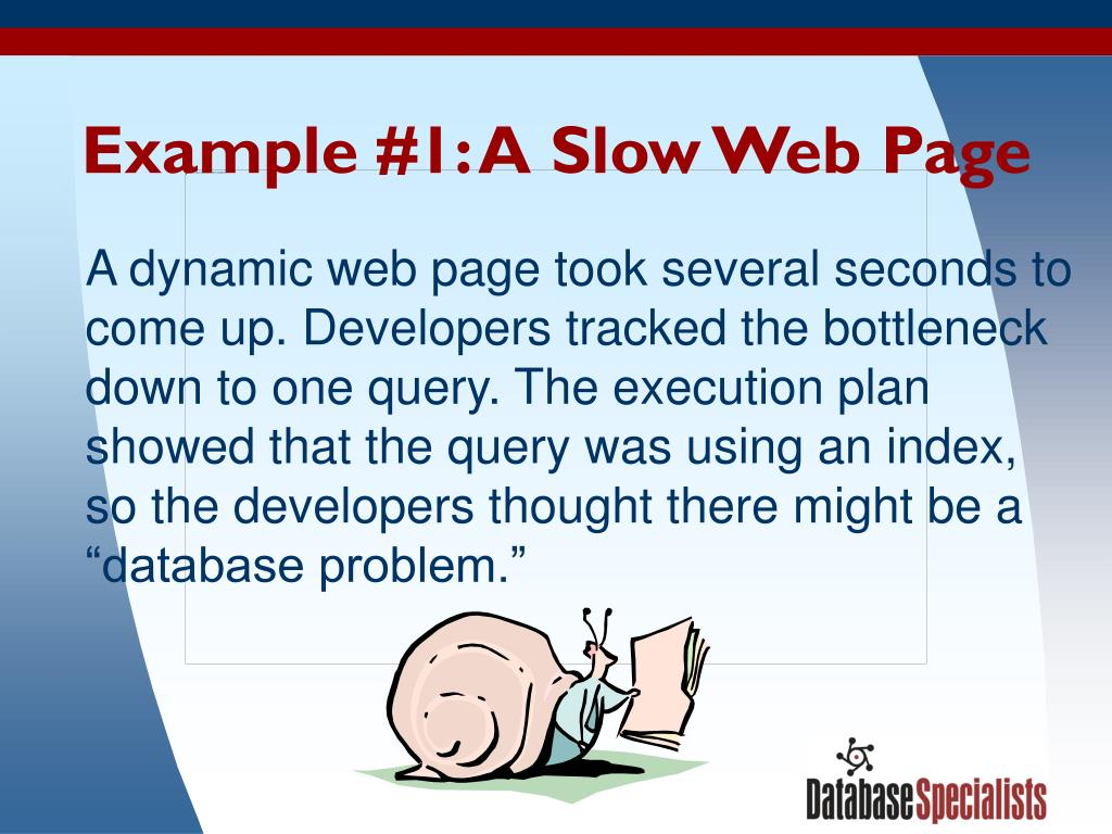 Example #1: A Slow Web Page