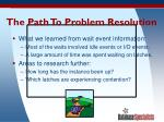 the path to problem resolution59