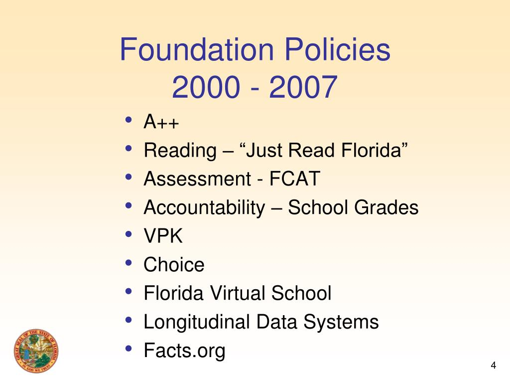 Foundation Policies