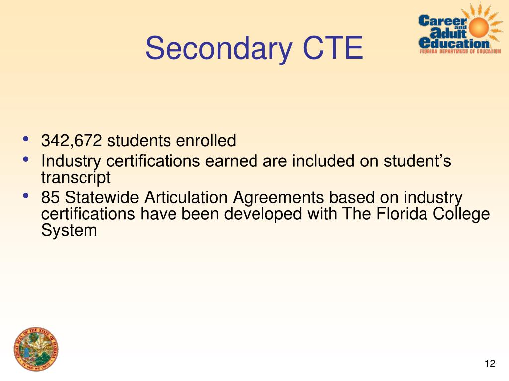 Secondary CTE