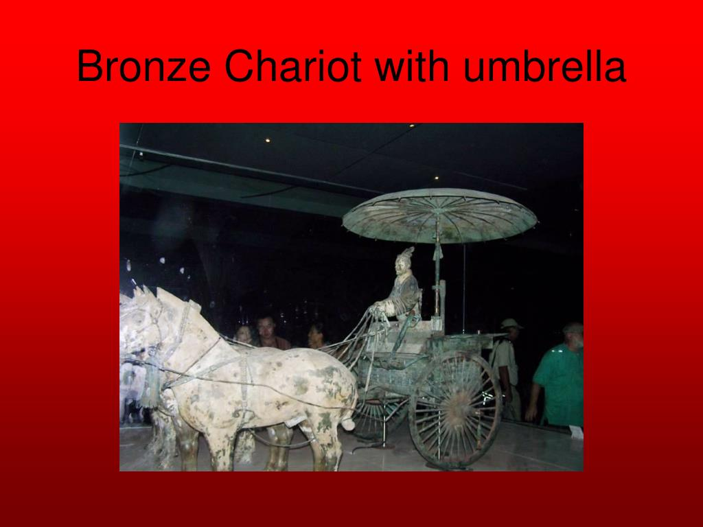 Bronze Chariot with umbrella