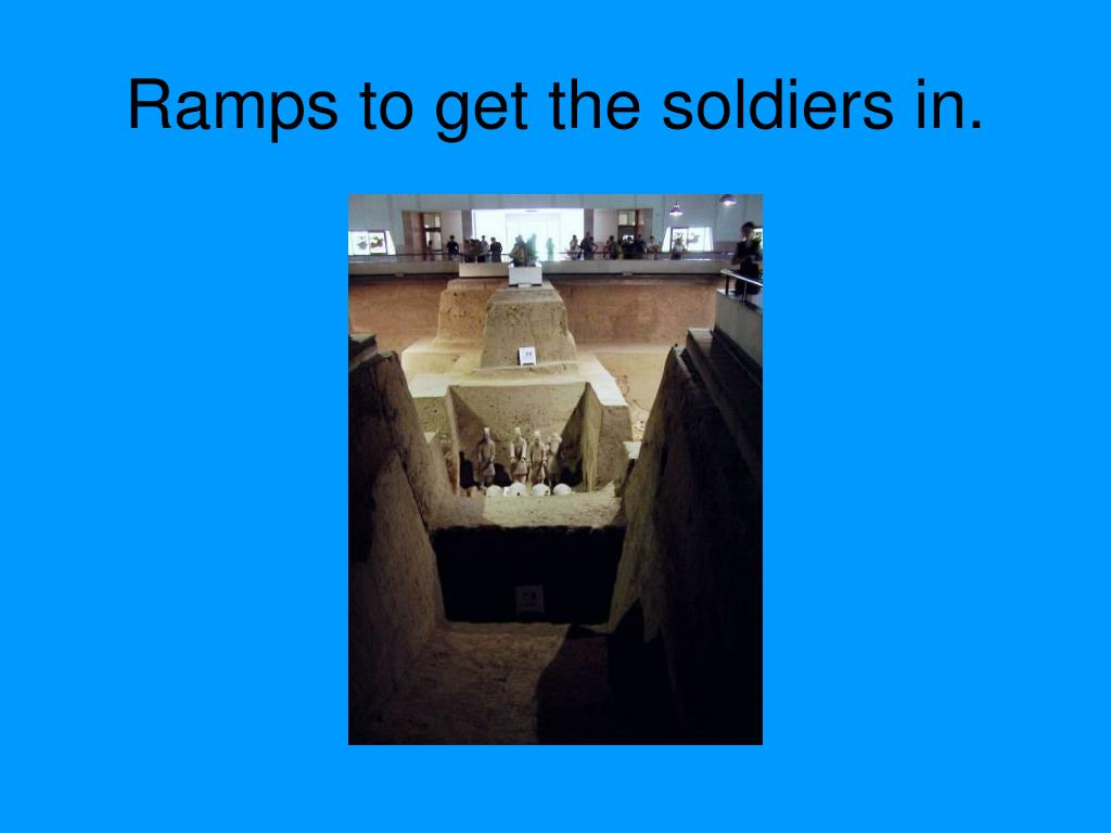 Ramps to get the soldiers in.