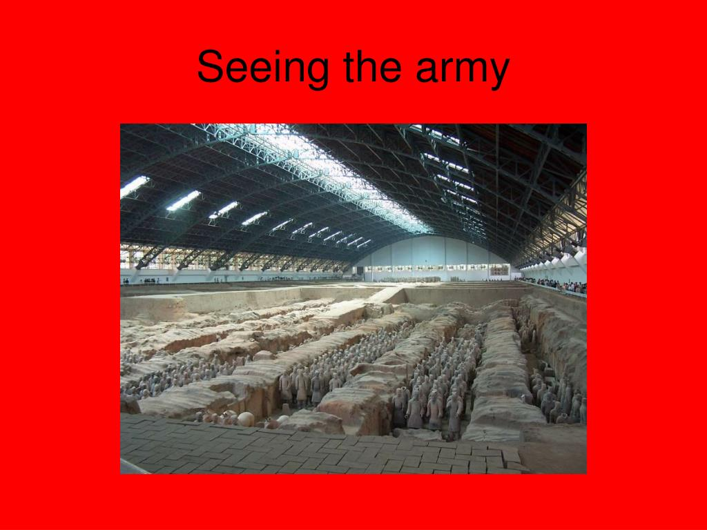Seeing the army