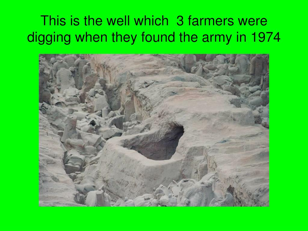 This is the well which  3 farmers were digging when they found the army in 1974