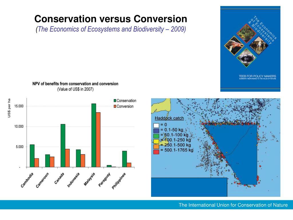 Conservation versus Conversion