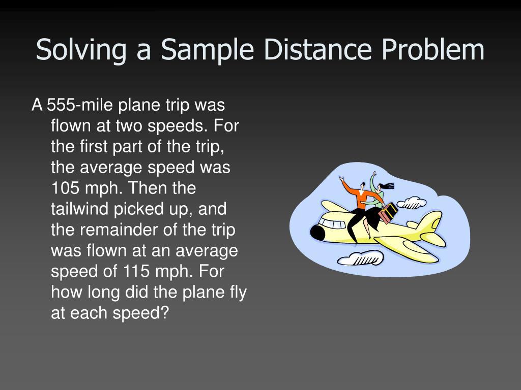 distance problem solving