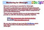 monitoring for ultralight