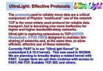 ultralight effective protocols