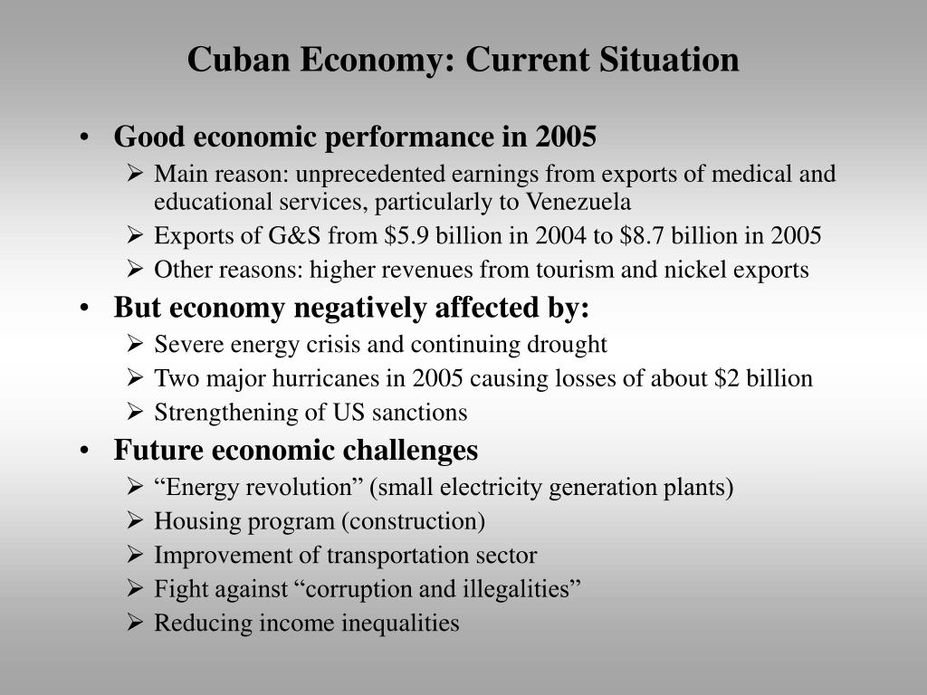 Cuban Economy: Current Situation