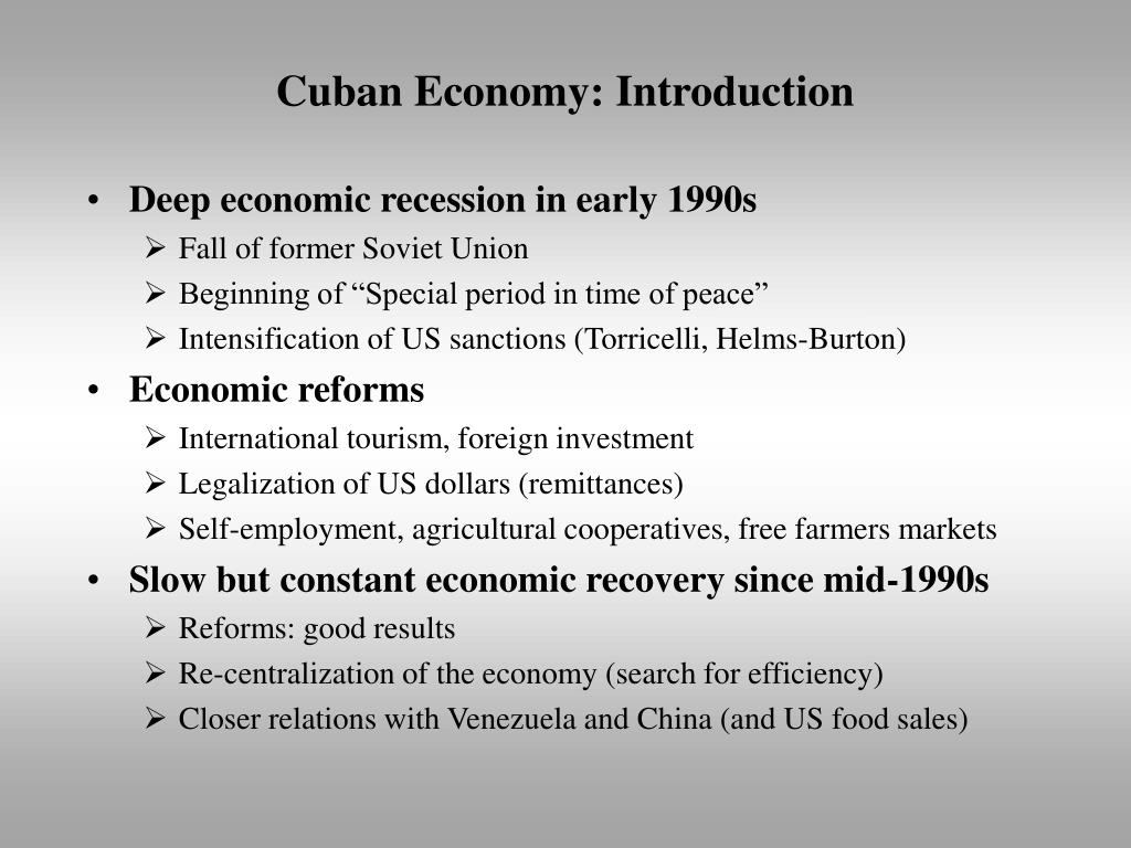 Cuban Economy: Introduction