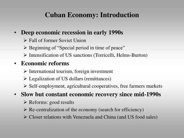 Cuban economy introduction