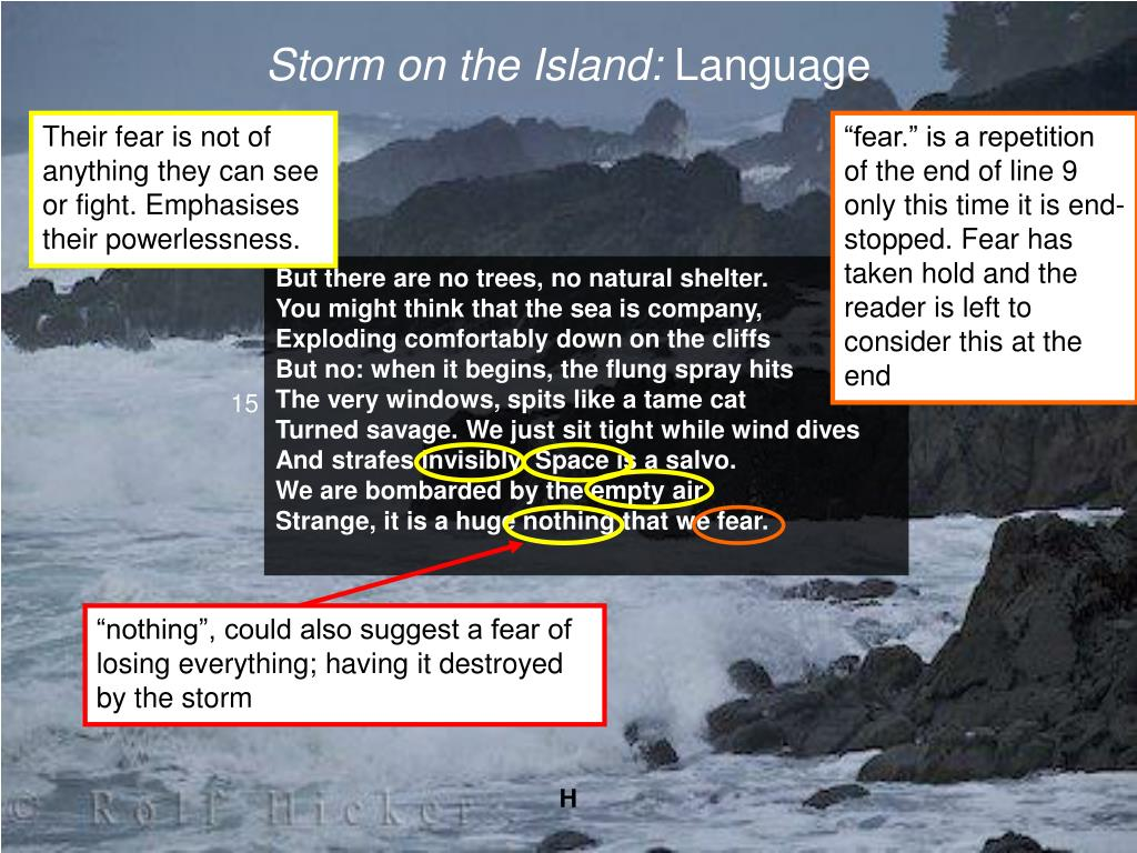 PPT - Storm on the Island by Seamus Heaney PowerPoint ...