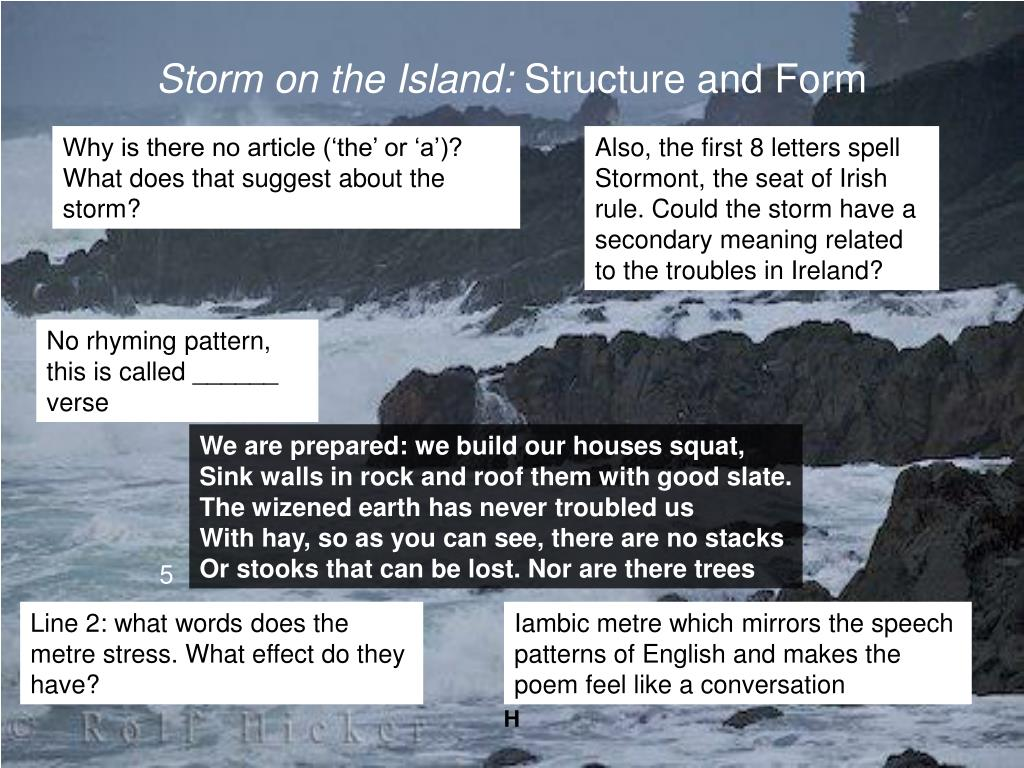 Ppt Storm On The Island By Seamus Heaney Powerpoint