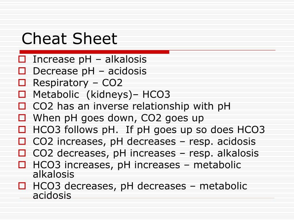 Increase pH – alkalosis