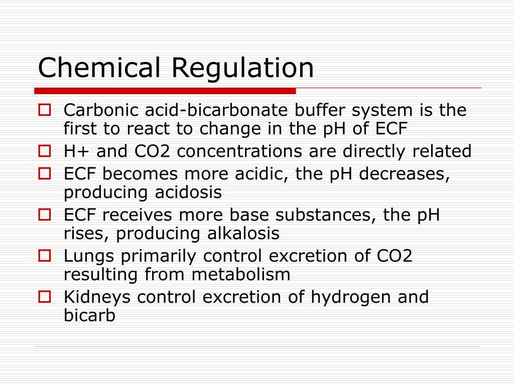 Chemical Regulation