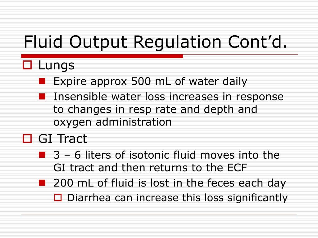 Fluid Output Regulation Cont'd.
