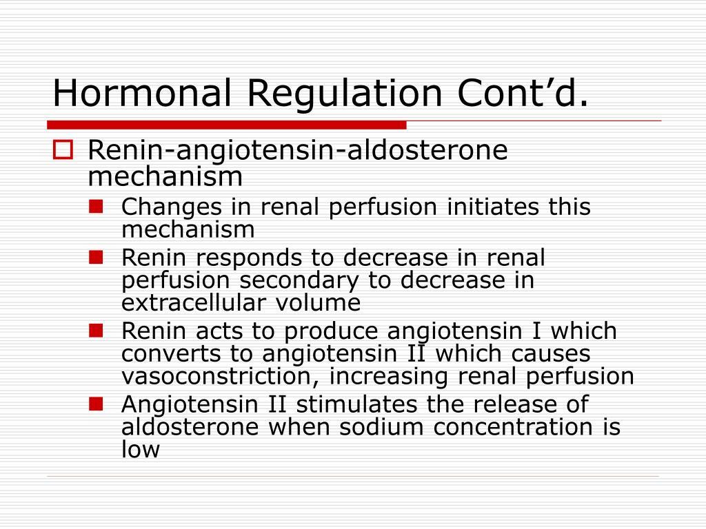 Hormonal Regulation Cont'd.