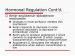 hormonal regulation cont d