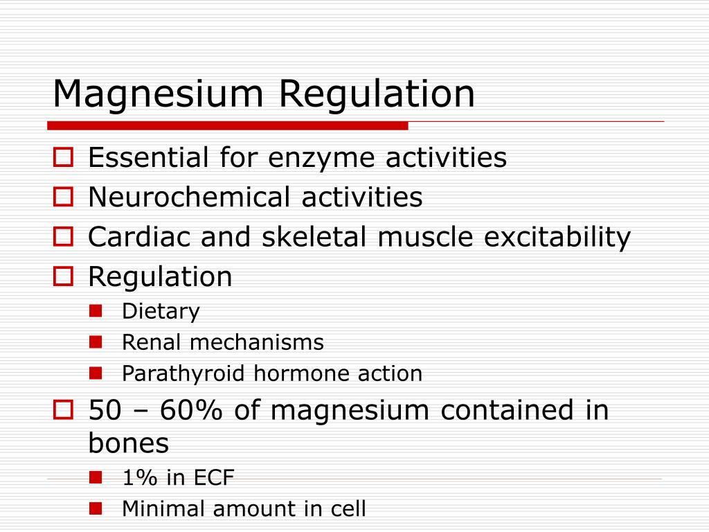 Magnesium Regulation