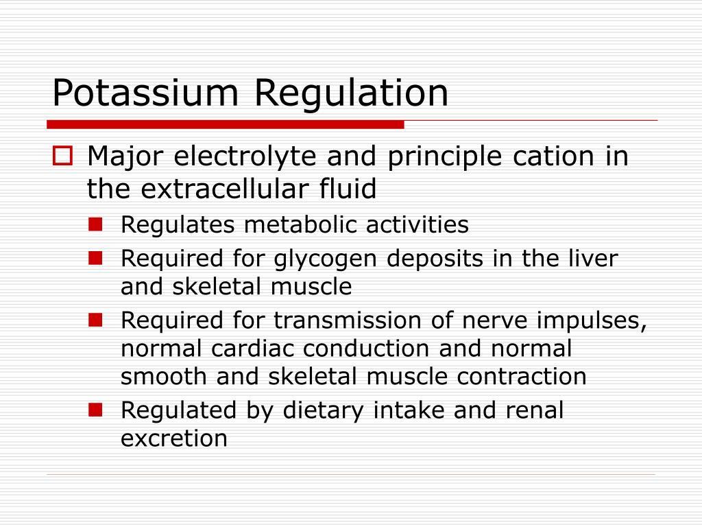Potassium Regulation