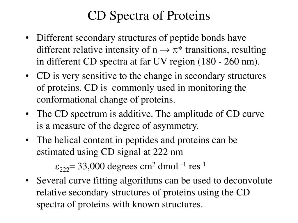 CD Spectra of Proteins