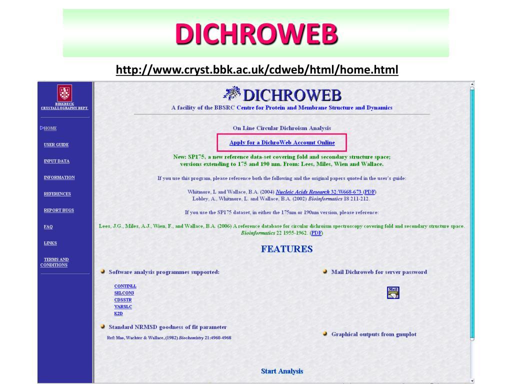 DICHROWEB