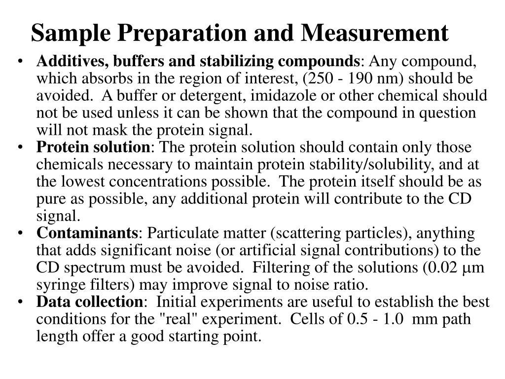 Sample Preparation and Measurement