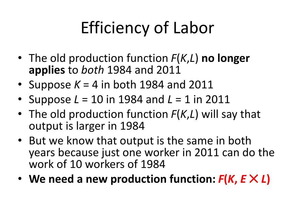 Efficiency of Labor