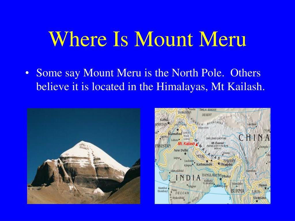 Where Is Mount Meru