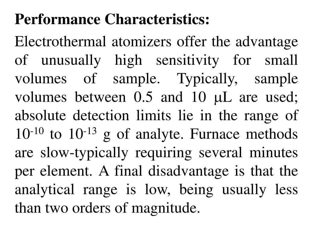 Performance Characteristics:
